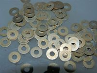 "100 x 3/32"" Flat Washers Fit Bolt Size 8BA 1/4"" Outside Diam. 0.016"" Thick [Z3]"